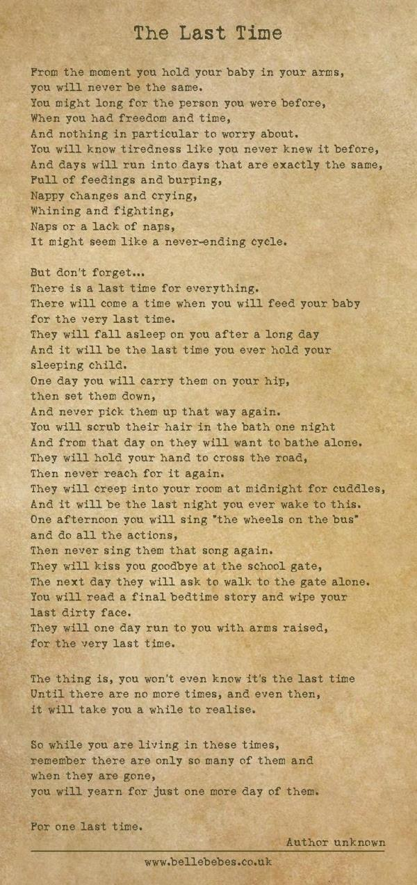 Mom Writes Tear Worthy Poem About Kids Growing Up The Last Time