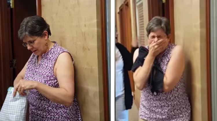 Grandma in shock when she finds out she'll be a grandma