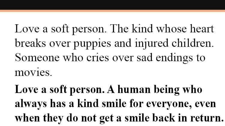 Love A Soft Person The Importance Of Having Gentle Soul