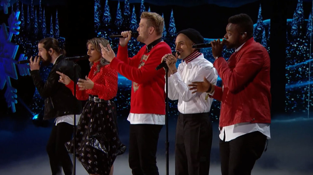 Americas Got Talent Christmas.Pentatonix Sings Incredible Cover Of Nsync S Christmas Hit For Live