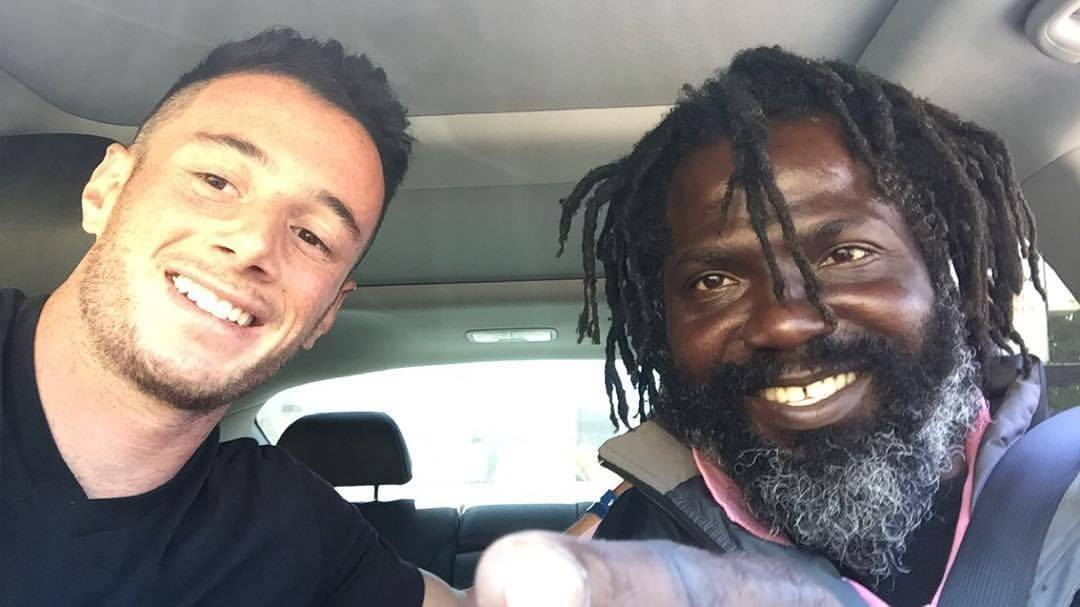 Image result for Young Stranger Drives By Homeless Man Everyday, But When He Invites Him To Lunch Everything Changes.