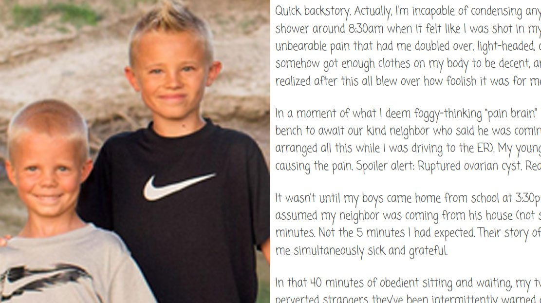 Young Boys Evade Potential Kidnappers After Remembering Mom's Simple Tip