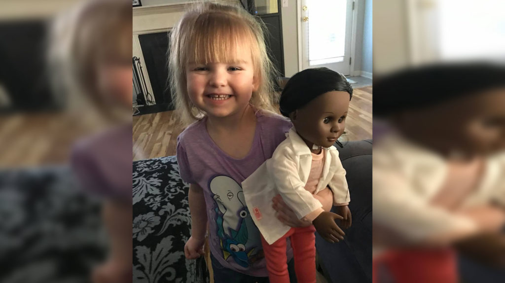 Cashier Tells Little Girl To Pick Out Doll That