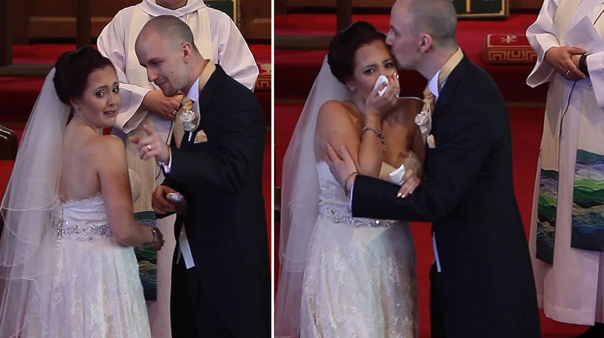 პატარძალმა უამრავი სტუმრის წინაშე ცხარე ტირილი დაიწყო, ამის მიზეზი კი უბაროლდ ...