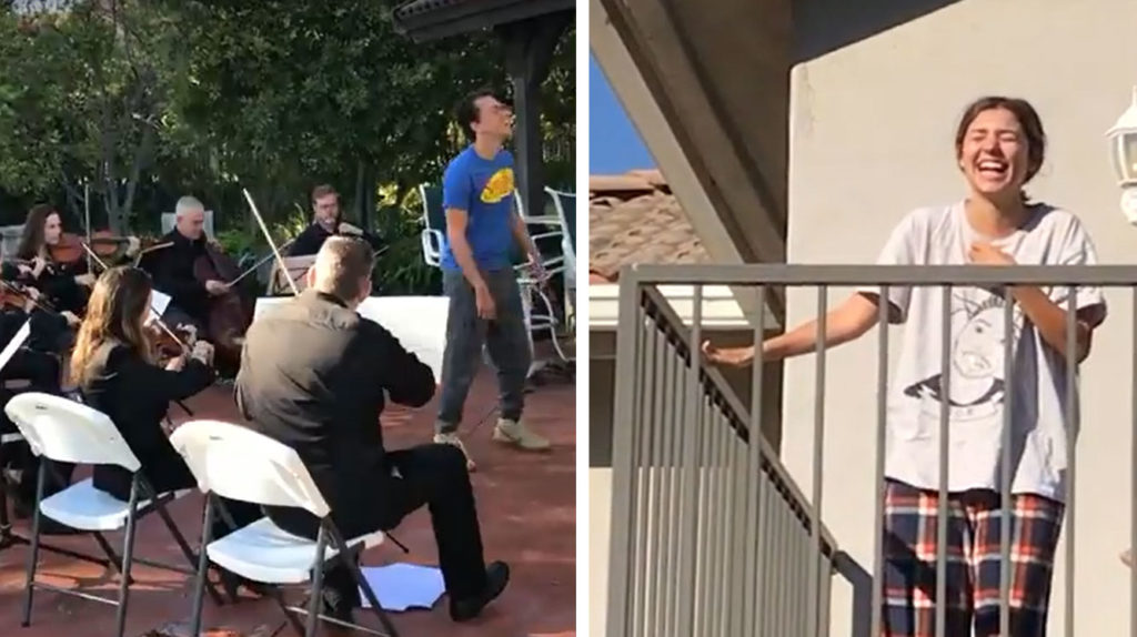 Famous Rapper Sneaks Orchestra Into Backyard Wakes Up Wife For Adorable Birthday Surprise Inspiremore