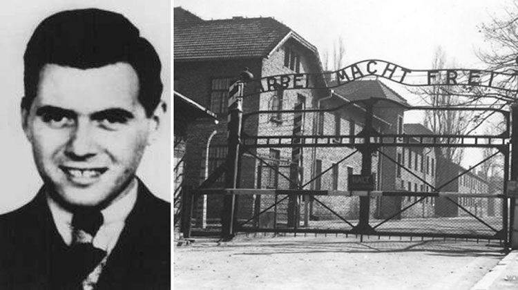 man and concentration camp
