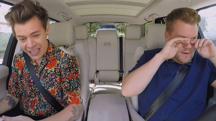 Harry Styles James Corden Get Emotional But In A Cool Way During
