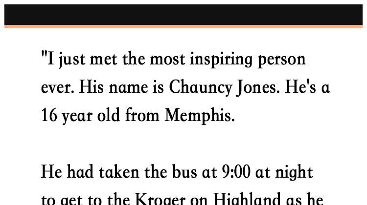 Story of matt white and chauncy jones