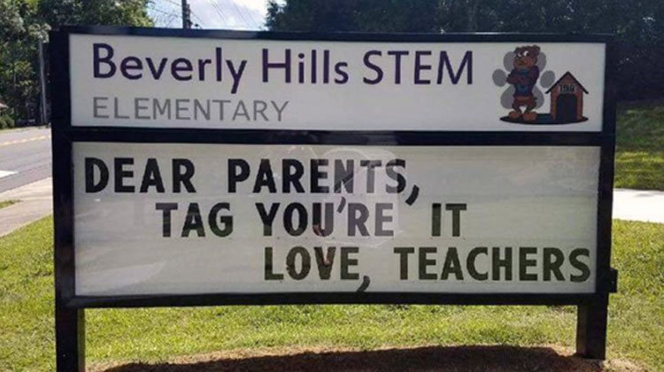 20 Of The Funniest School Signs Ever