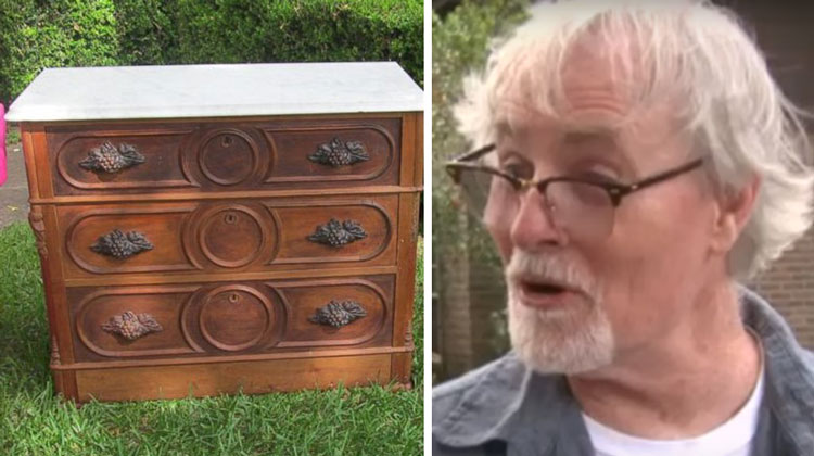 Man Buys Old Dresser At Estate Sale For $100, Then Discovers Hidden Compartment With Jaw-Dropping Secret