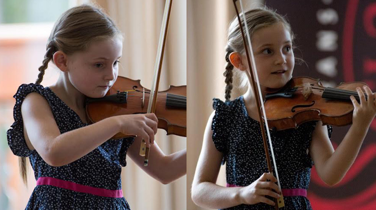 alma 11 year old composer playing violin