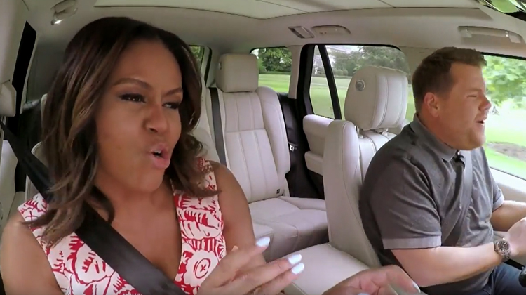 michelle obama james carden carpool karaoke