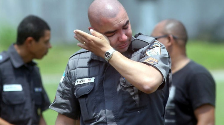 cop crying