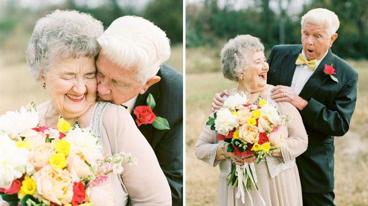 couple takes 63 yr anniversary photos