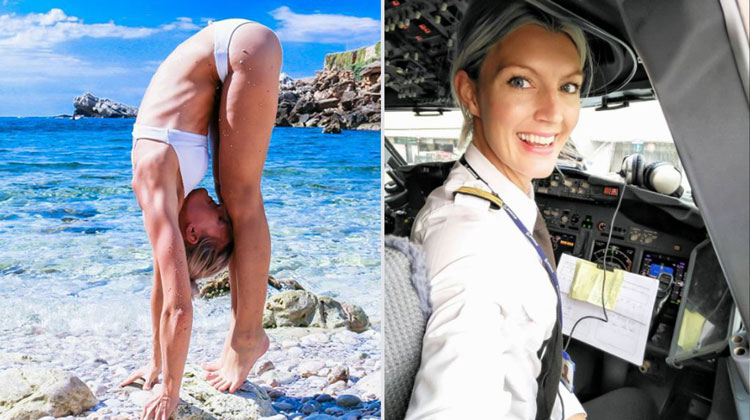 swedish pilot maria travels world doing yoga