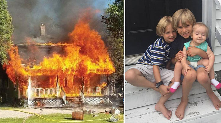 boy rescues baby sister in house fire