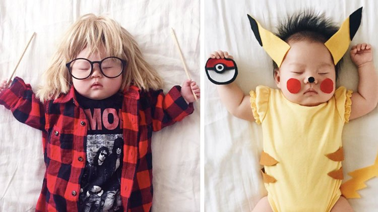 Mom Plays Dress Up While Baby Sleeps Becomes Instagram Star Overnight