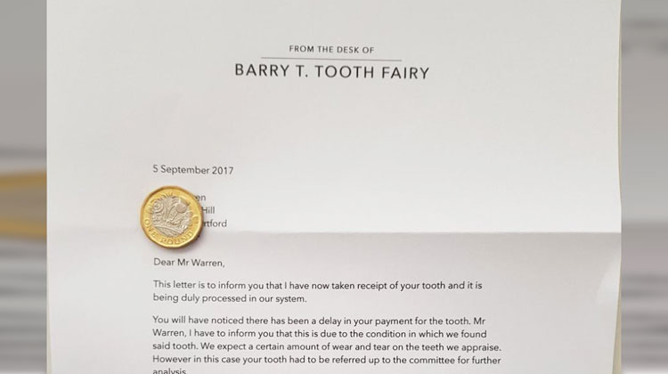 letter from barry t tooth fairy