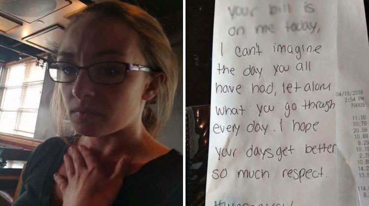 waitress pays for cop lunch after funeral