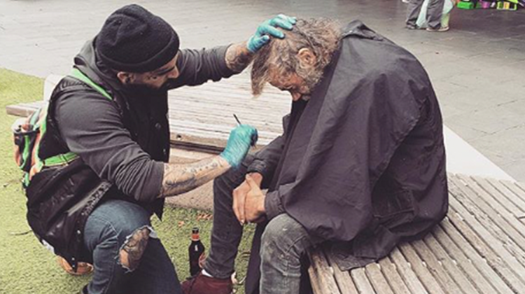 street barber helps homeless