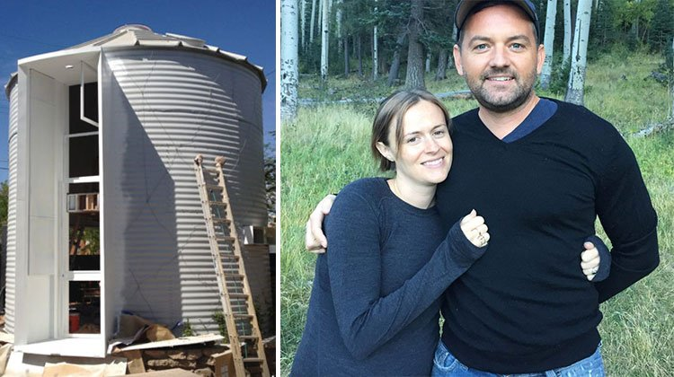 grain silo tiny home