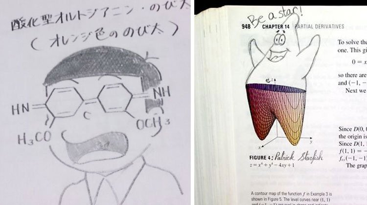 15 Bored Students Who Left The Funniest Doodles In