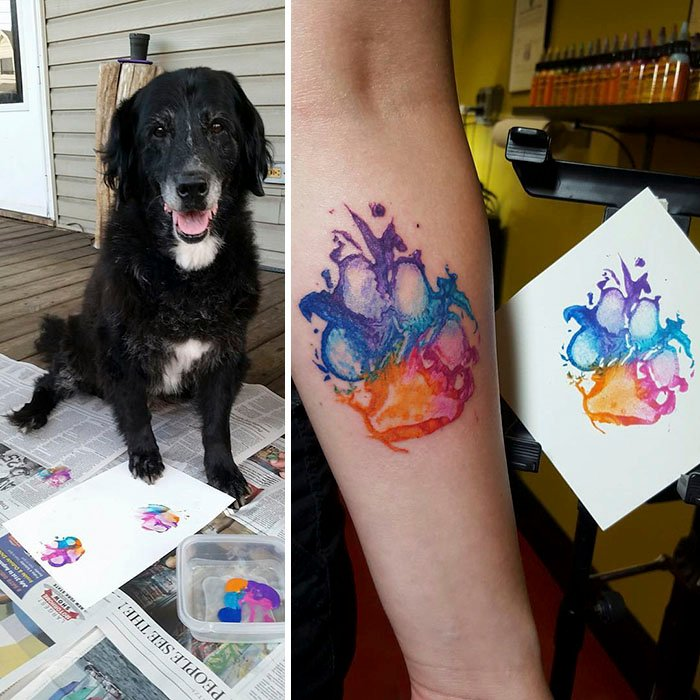 adfe8b27f2c1a 18 Gorgeous Paw Print Tattoos For Anyone Whose Dog Is Part Of The Family