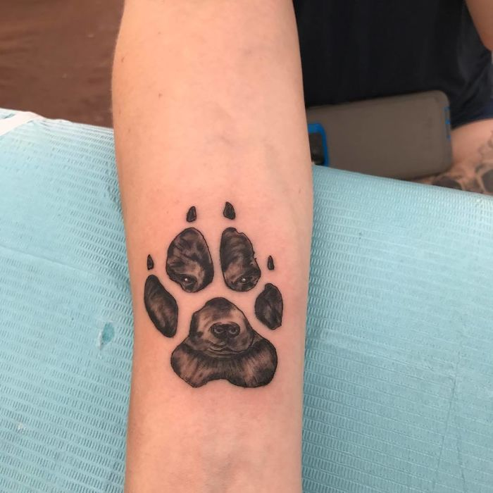 18 Gorgeous Paw Print Tattoos For Anyone Whose Dog Is Part