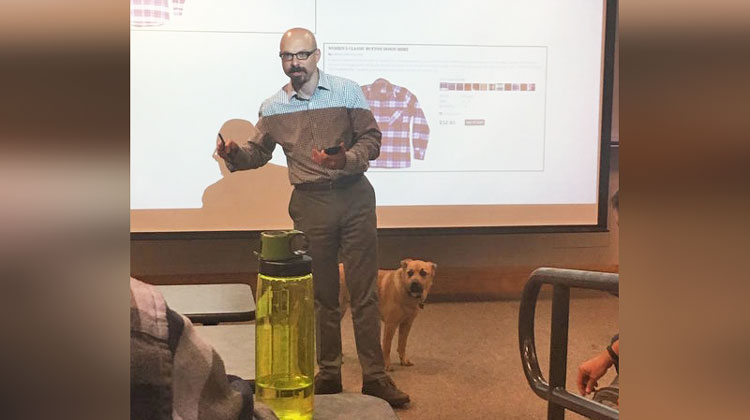 Students Melt When Prof Brings Dog To Class, Then See Pop Quiz Behind Him & Crack Up!