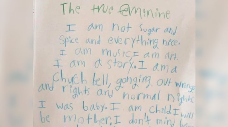 3rd Grader Pens Compelling Poem About Femininity - InspireMore