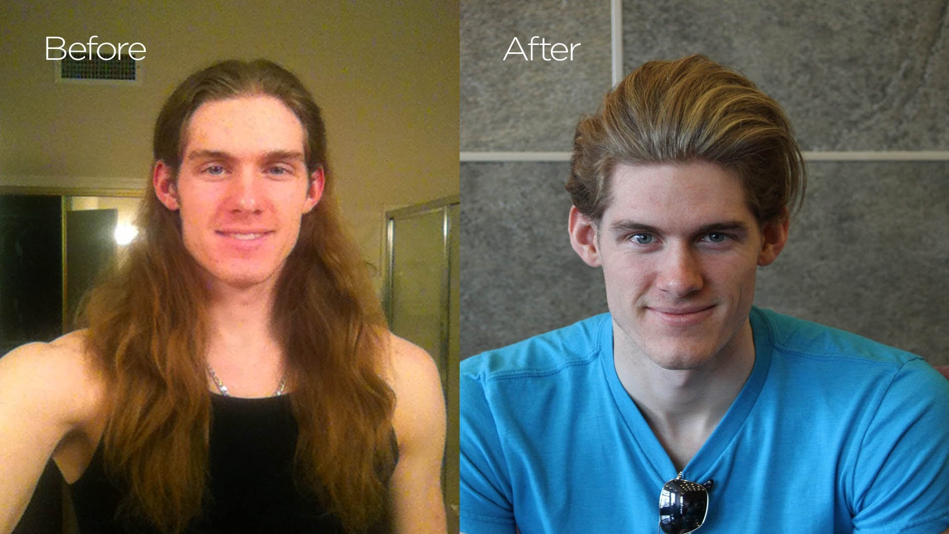 dramatic long hair cut short makeover by christopher 21 before after photos of people with new haircuts