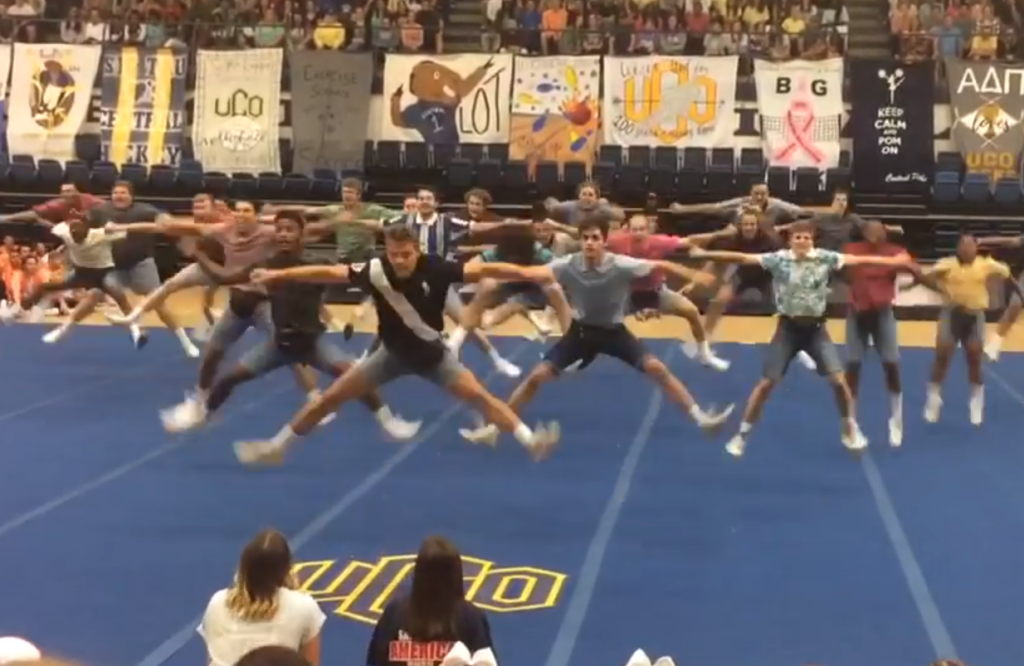 These Frat Brothers Cheer