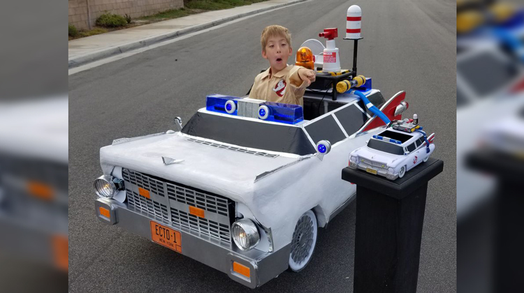 ghostbusters car on wheelchair