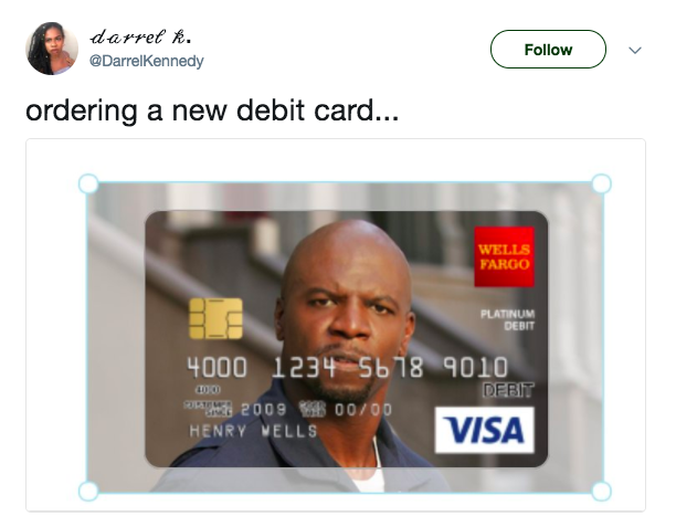 twitter - Custom Visa Debit Card