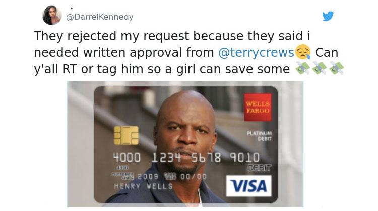 Terry Crews Debit Card Rejected By Wells Fargo  -InspireMore com