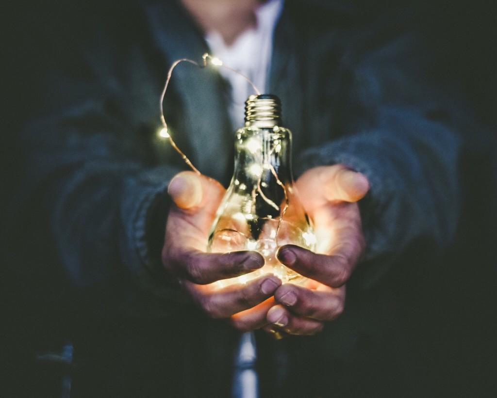lights in a lightbulb