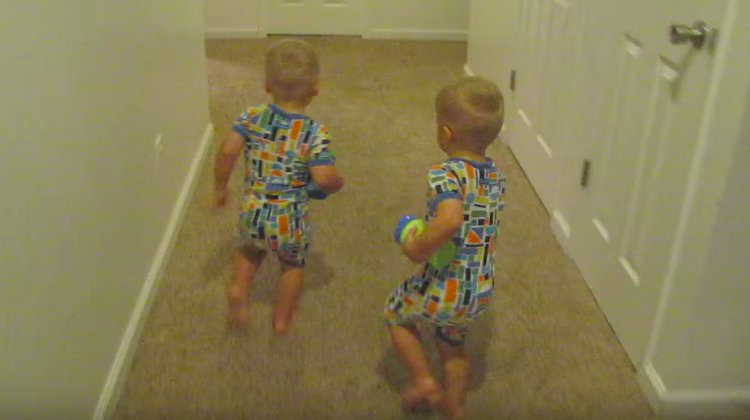 Twin Boys Adorable Bedtime Routine Has Internet Rolling In Laughter.