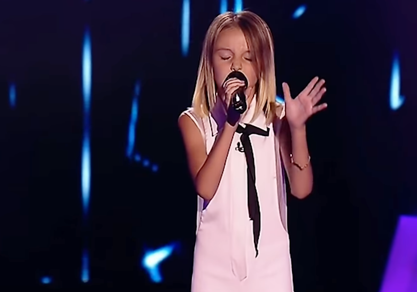 "10-Yr-Old Sings ""Stone Cold"" On The Voice Kids Ukraine"