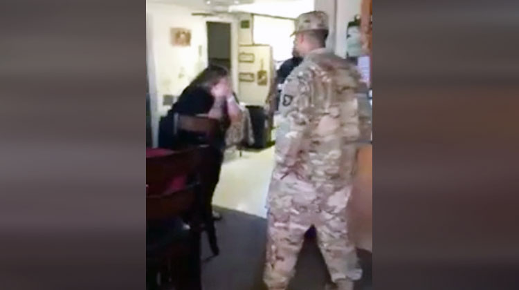 Family's Thanksgiving 'Mannequin Challenge' Is Crashed By Surprise Military Homecoming