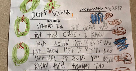 6-Yr-Old's Skeptical Letter To Santa Is Hilariously Savage