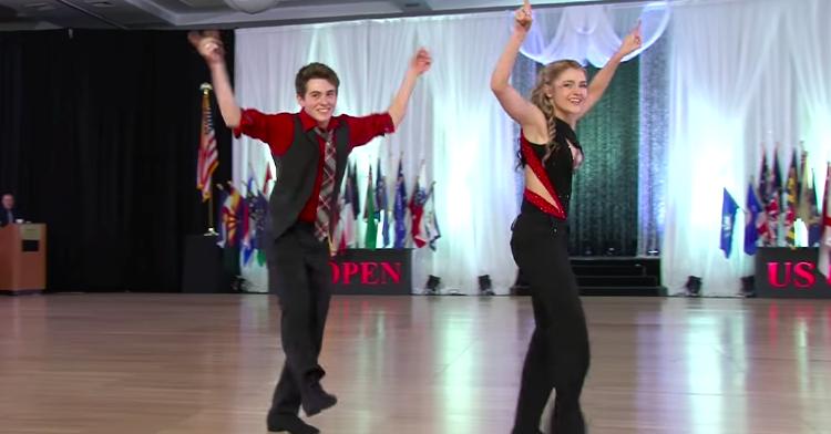 teen swing dancers