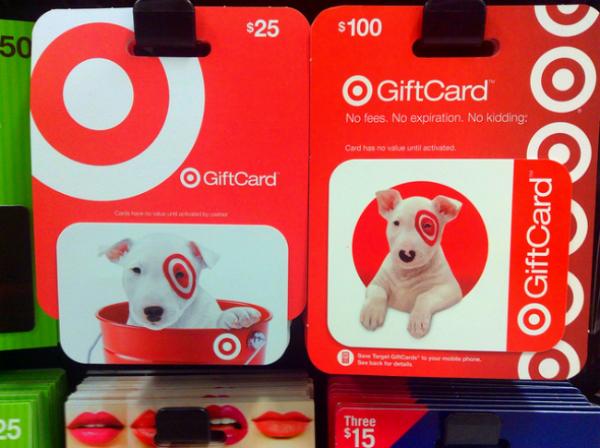 target gift card shopping