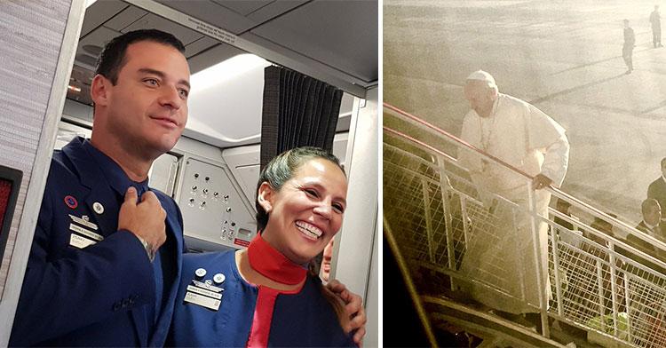 pope marries flight attendants