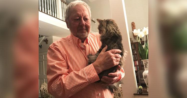 grandpa keeps family cat