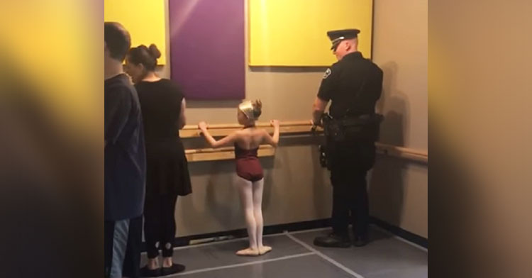 cop dad comes to ballet class