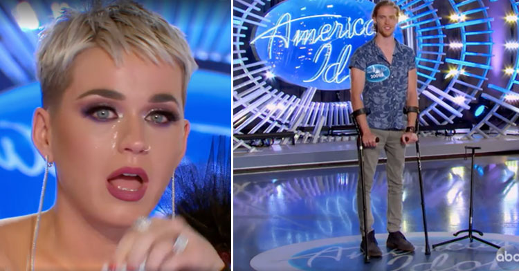 Katy Perry Breaks Down During Paralyzed Singer's Emotional Audition.