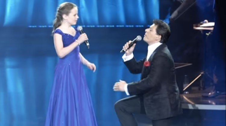12-Yr-Old Prodigy Sings Duet With Famous Opera Star, But Her Incredible Voice Brings Him To His Knees