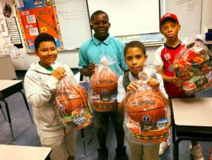 fifth grade students on easter
