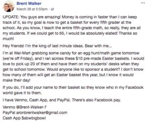 brent walker easter facebook post