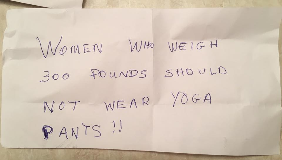 Teacher Gets Fat-Shaming Note In Mail About Leggings